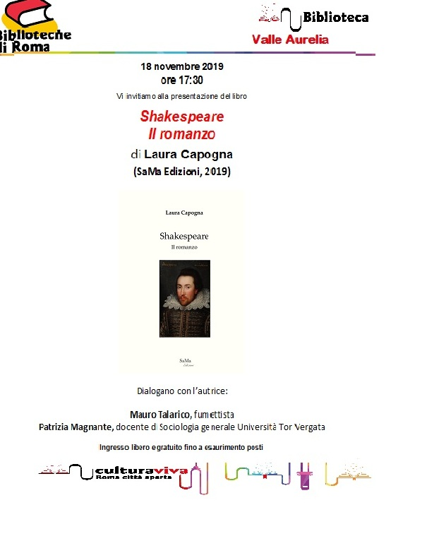 Shakespeare il romanzo di Laura Capogna