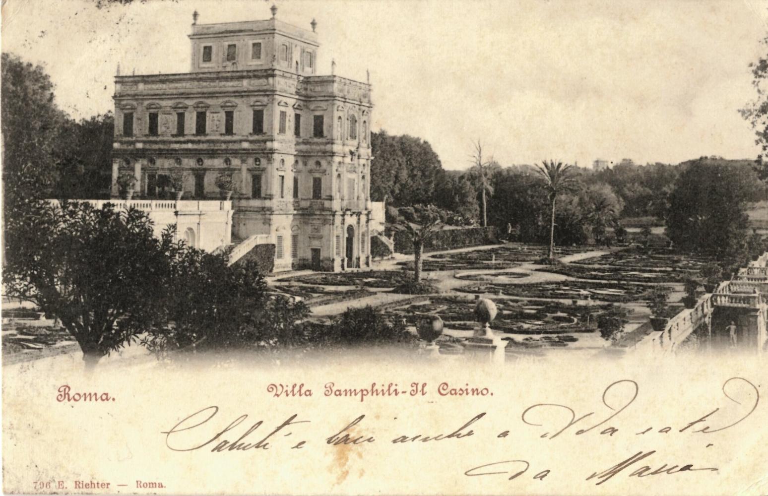 Saluti da Villa Pamphilj. Villa Doria Pamphilj in 80 cartoline postali dei primi del '900