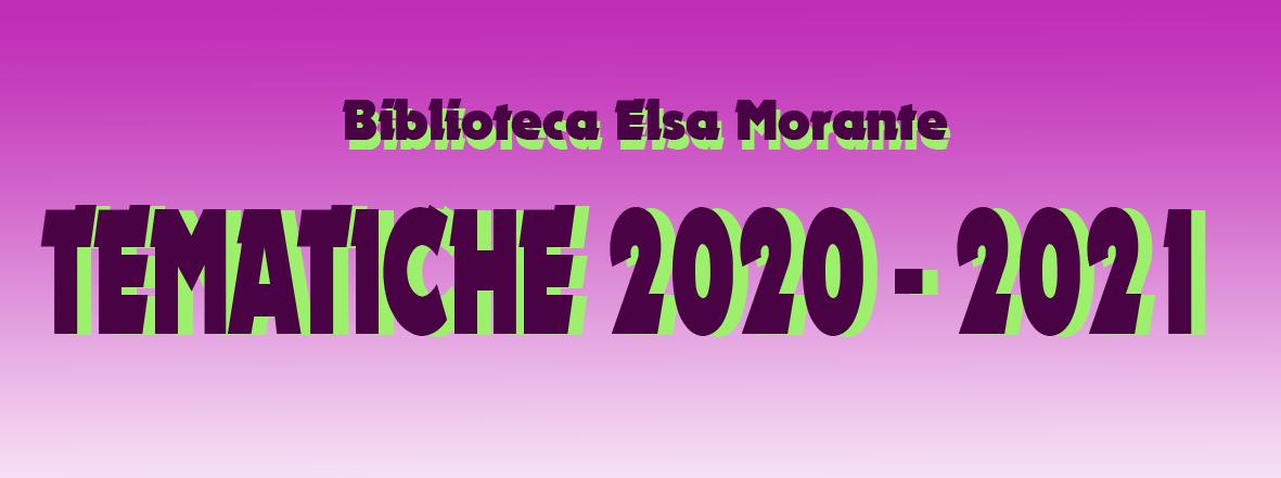 Tematiche della stagione 2020-2021