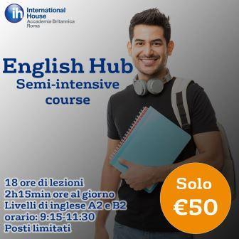 ENGLISH HUB: pratica il tuo inglese ad un prezzo MOLTO speciale