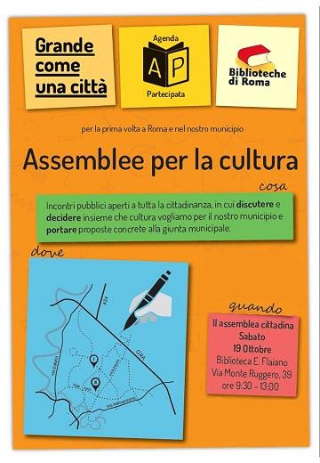 Agenda partecipata. Seconda assemblea per la cultura