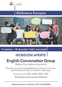 English conversation group - Posti esauriti