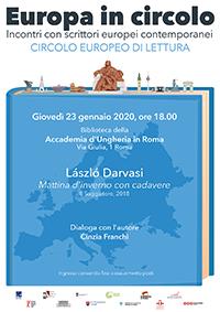 Europa in Circolo. László Darvasi alla Biblioteca dell'Accademia d'Ungheria in Roma