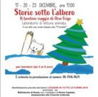"""Storie sotto l'albero : il favoloso viaggio di Orso Frigo a cura della cooperativa """"Il Carosello"""""""