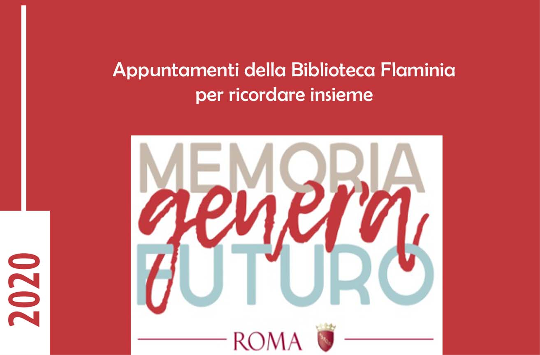 MEMORIA GENERA FUTURO: gli appuntamenti della Biblioteca