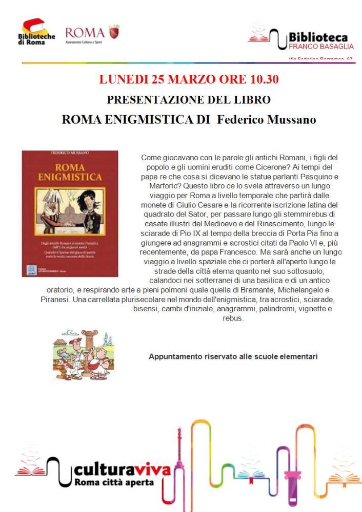 Roma enigmistica di Federico Mussano