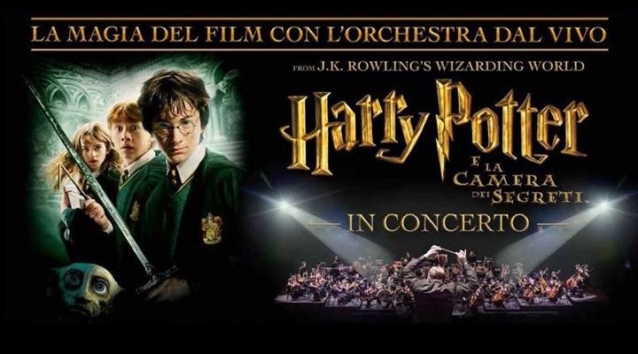 Cine-concerto Harry Potter e la Camera dei segreti, con l'Orchestra Italiana del Cinema di Roma.