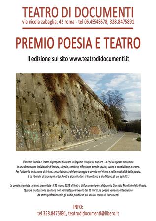 Per la Giornata Mondiale della Poesia, II edizione del Premio Poesia e Teatro