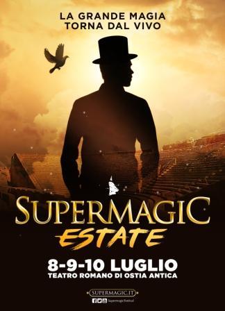 Supermagic Estate nel fantastico scenario del Teatro Romano di Ostia Antica.