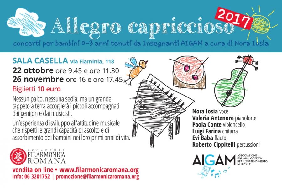 Allegro Capriccioso: concerti  per bambini 0 - 3 anni