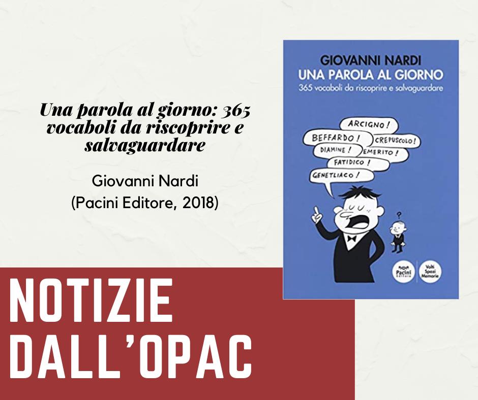 Notizie dall'OPAC