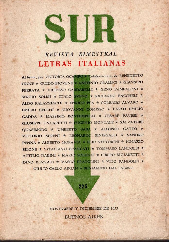 Italia chiama Argentina.La rivista 'Sur' e la narrativa italiana in Argentina