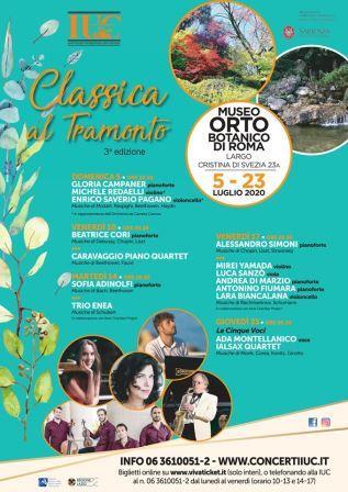 Due concerti per il festival Classica al tramonto, la rassegna di musica da camera della IUC