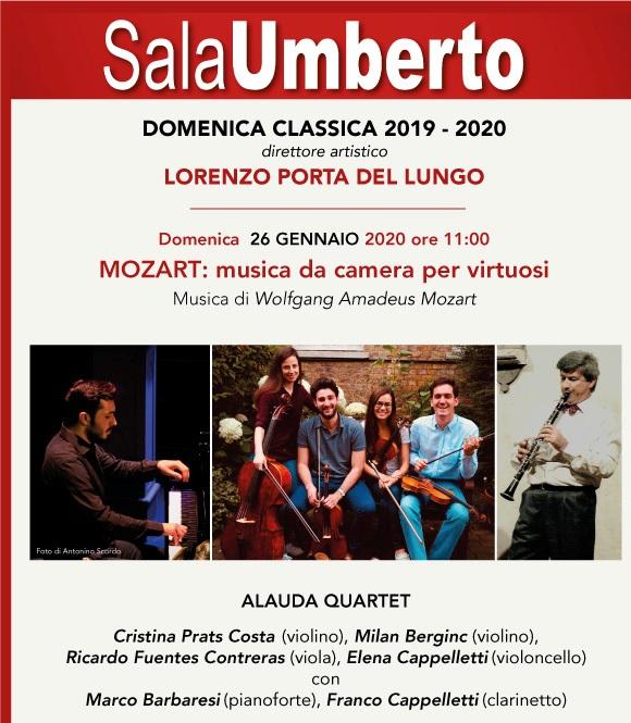 Domenica Classica. Mozart: musica da camera per virtuosi