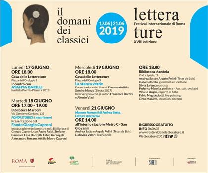 Letterature Festival Internazionale di Roma. 2019
