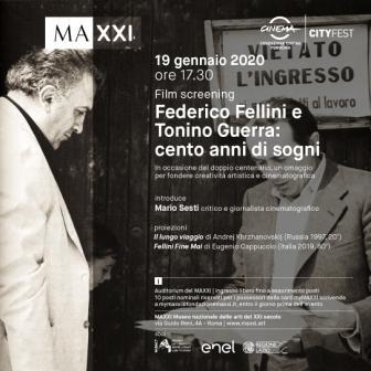 Film screening. Federico Fellini e Tonino Guerra: cento anni di sogni