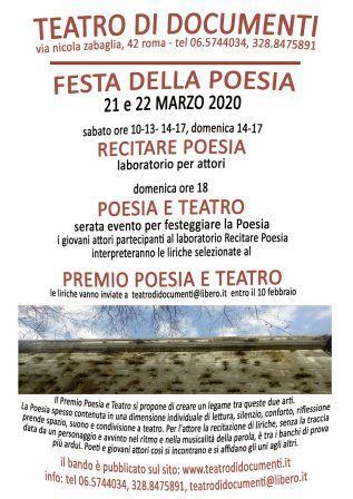 Premio Poesia e Teatro. I° edizione