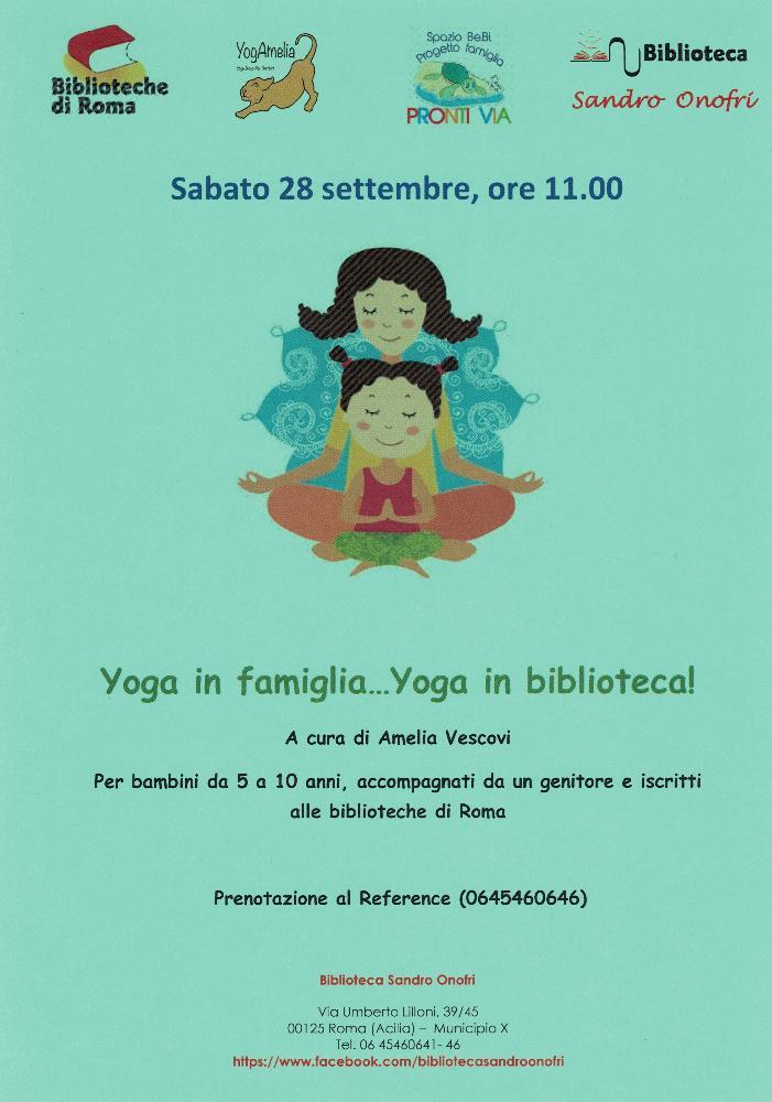 Yoga in famiglia...yoga in biblioteca