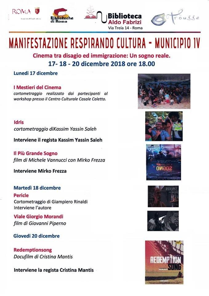 Manifestazione Respirando Cultura - MUNICIPIO IV