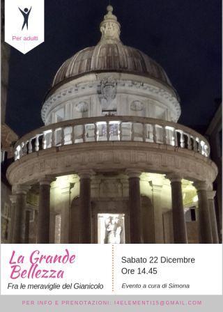 La grande bellezza fra le meravigle del Gianicolo.