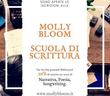 I corsi della Scuola di scrittura Molly  Bloom. La nuova convenzione Bibliocard