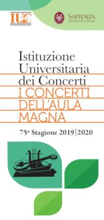 L'Istituzione Universitaria dei Concerti presenta la 75a Stagione 2019|2020