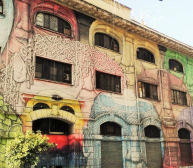 Street Art ad Ostiense con Nomos Trek